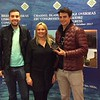 Lisbon 2017, Men Pairs winners - Dominic Rayner & Nick Dean (with Hannah Williams from Bridge Overseas)