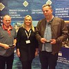 Lisbon 2017, Open Pairs winners - Jonathan Harris & Steve Root  (with Hannah Williams from Bridge Overseas)