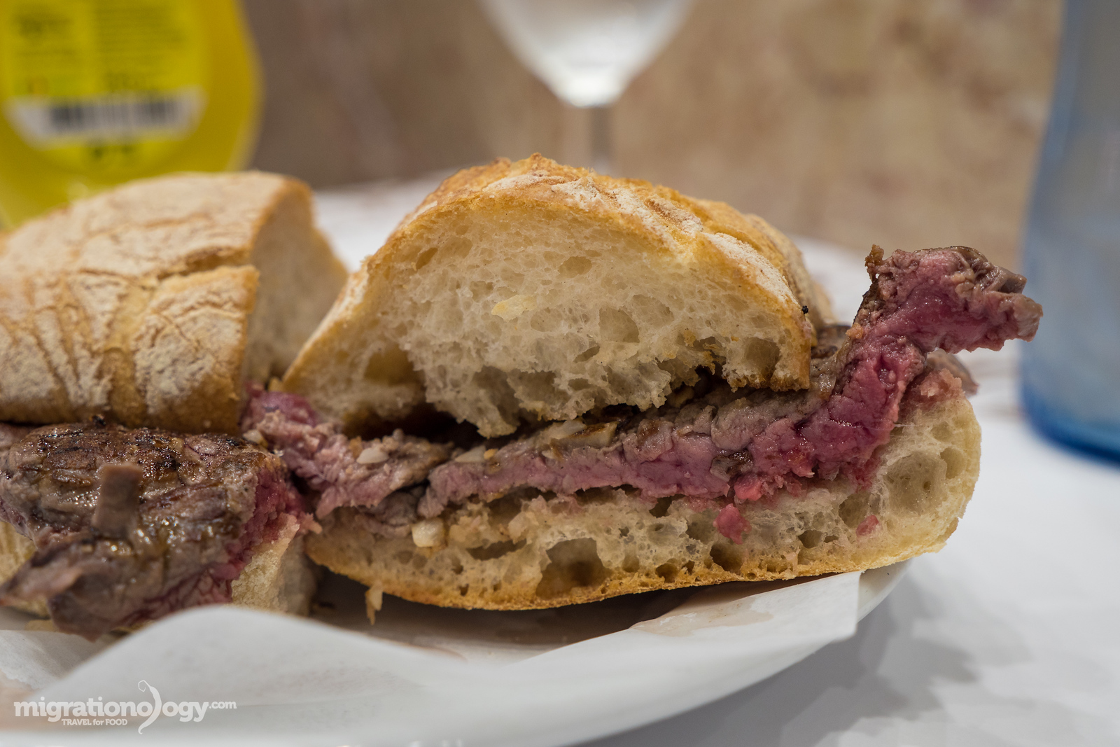 Portuguese steak sandwich