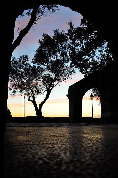 Sunset from the Castelo de São Jorge. 2010.