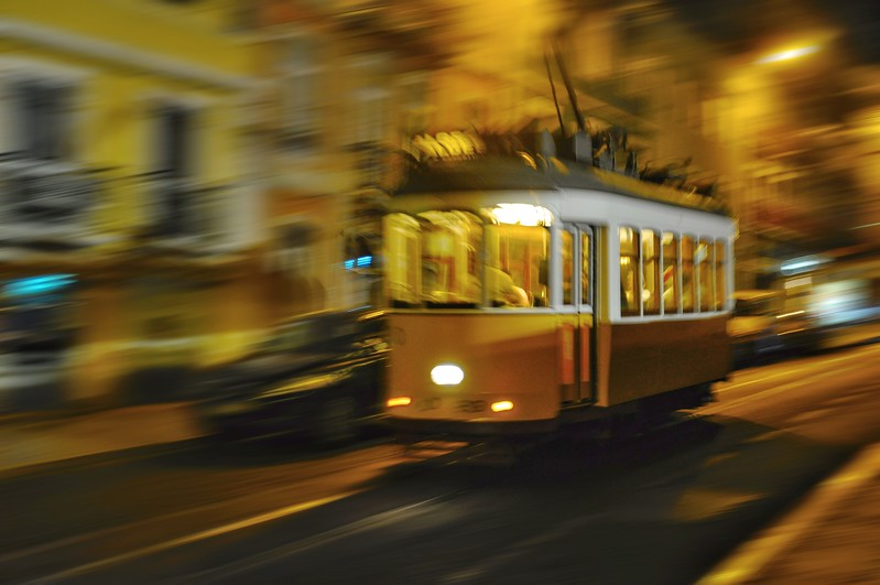 Lisbon Tram at Night. 2010.