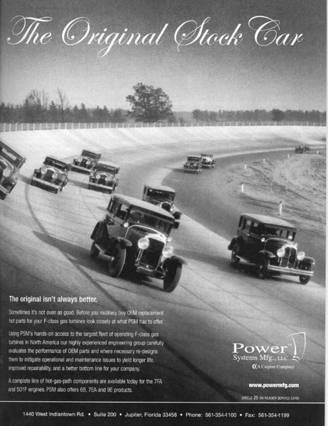 USA - Power Systems ad featuring two 1929 Buicks