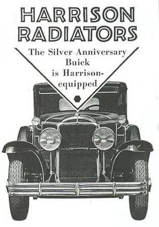 USA - Harrison Radiator ad - featuring 29 Buick