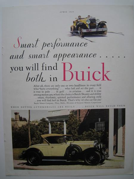 USA - Full colour ad - featuring 29-44 (roadster)
