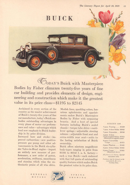 USA - Lit. Digest Ad # 1  (part of a GM all makes ad)