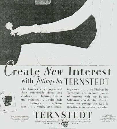 USA - Ternstedt ad - featuring 29 Buick interior