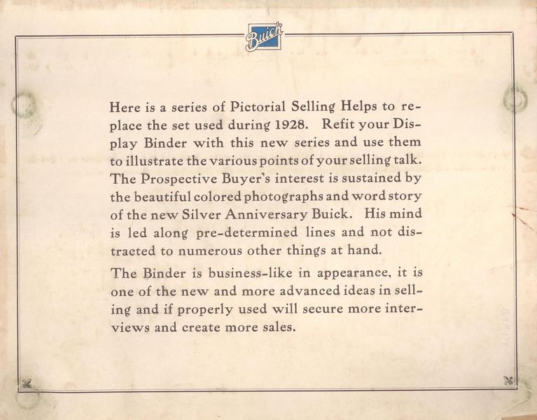 USA - Dealer / Salesman's Flip Chart - First Inside page (1 of 4 Dealer / Salesman Books including Sales Manual, Order Book & Colours)
