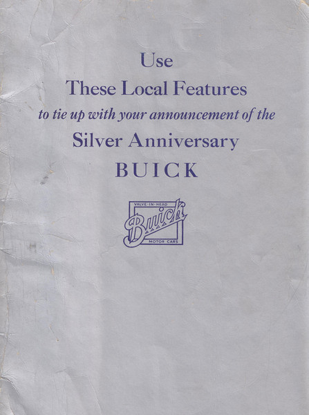 USA - Dealer Book showing ideas on how to promote the 1929 Buick on announcement day