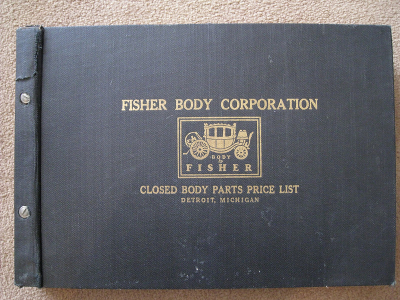 USA - Fisher Body (closed cars ) Price List