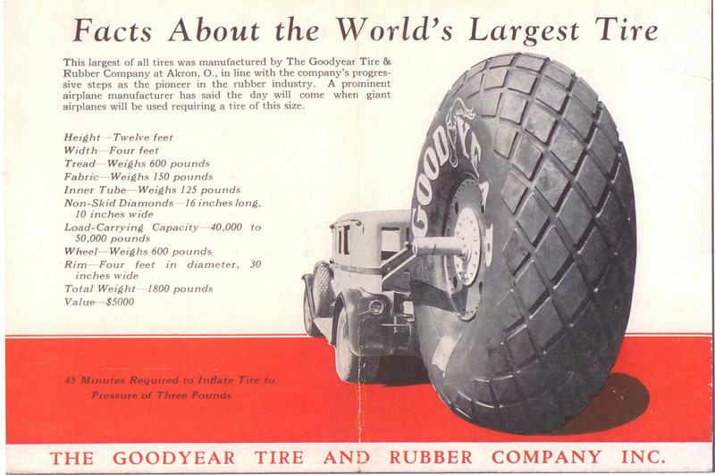 Goodyear - World's Biggest Tire - being pulled by 1929 Buick - Pg. 2