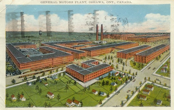 Postcard - GM Plant in Oshawa, ON, Canada - Circa 1929