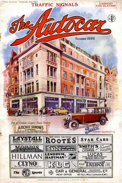 Feb. 1929 Autocar magazine in the UK