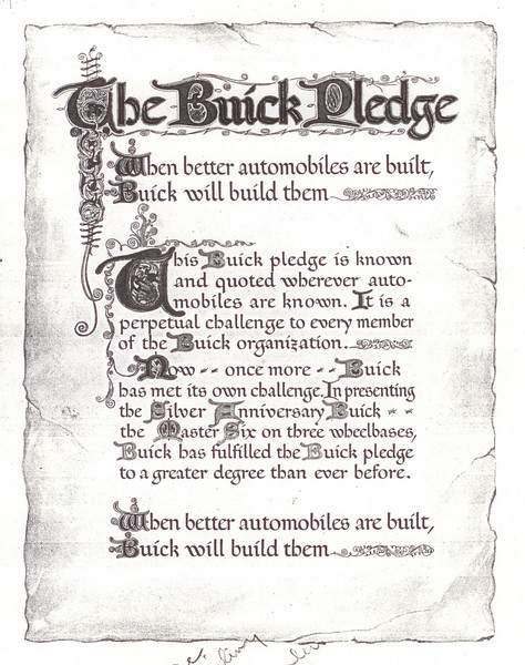 USA Buick Pledge Folder (4 pages)