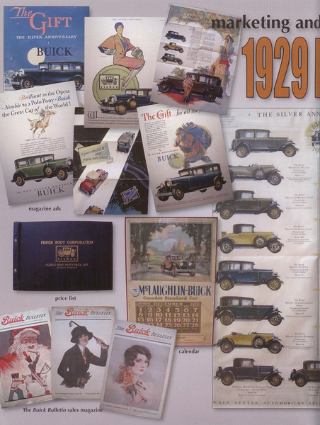 Buick Bugle - April 2009 Issue - 1929 Buick Literature Double Page Spread montague - Left side