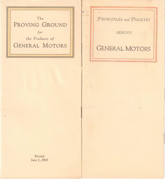 USA - GM Brochures - Proving Grounds & Principles and Policies