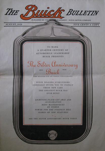 USA - Buick Bulletin -Aug. 1928