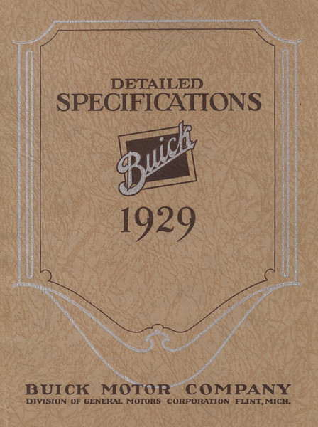 Detailed Specifications - USA - 38 pages.  Full colour reprint available from The Buick Heritage Alliance