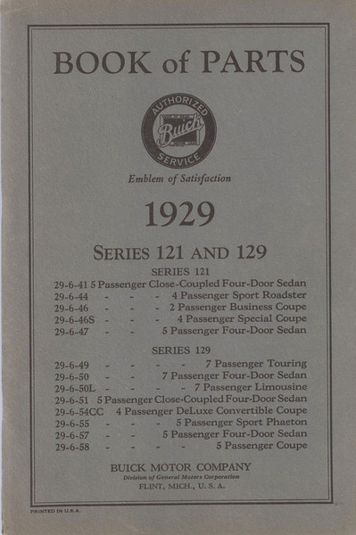 Parts Book - 121 & 129 Series (USA) - 89 pages