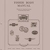 Canadian Fisher Body Manual:  Circa 1929.  30 Pages.  Covers various basic body adjustments