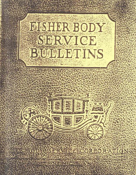 Fisher Body Service Bulletins (circa 1929) - cover