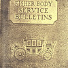 Fisher Body Service Bulletins (circa 1929) - cover