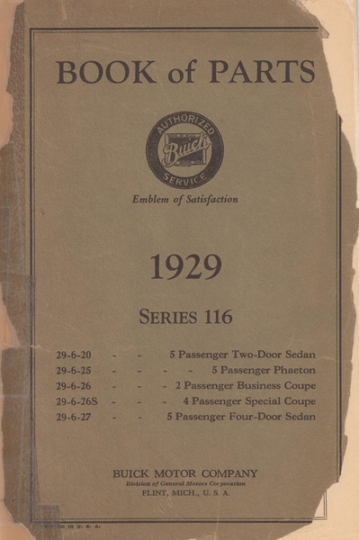 Parts Book - 116 Series (USA) - 81 pages