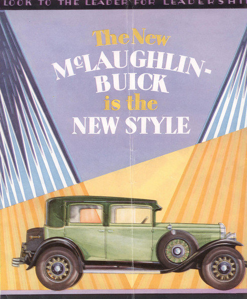 Canadian McL-Buick salesroom folder #4 - cover