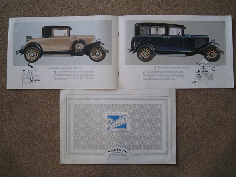 Canadian McL-Buick series 116 salesroom folder