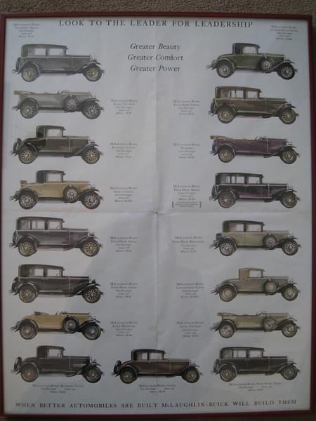 Canadian McL-Buick Salesroom folder #2 - inside spread