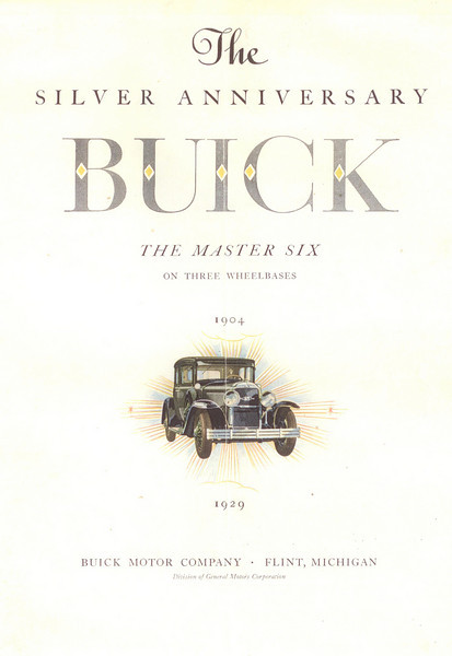 USA Showroom folder #3 - cover.  Full colour reprint available from The Buick Heritage Alliance
