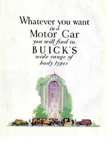 USA Showroom folder #2 - Cover.  Full colour reprint available from The Buick Heritage Alliance