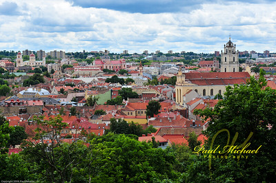 Senamiestis.  Old City from Castle.