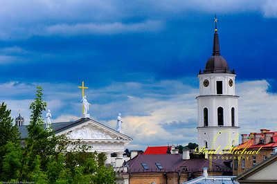 Sky over Vilnius.  They don't call it Land of the Rain for nothing!