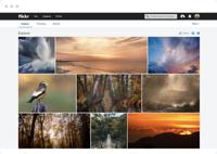 Flickr's community explore page.