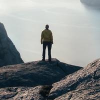 Person in landscape
