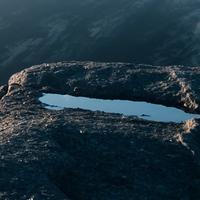 A mountain pool