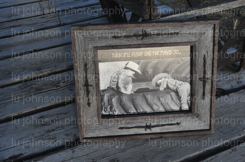 This photo is for advertisement only to show the barnwood frames that are available for sale with the photos.  This is an 8x10 photo.  The photo is done on Metallic paper and has an awesome shine to it.  The glass is nonglare glass and will be packaged separately.  The frame is entire made of barnwood and the barbed wire is antique.  The rustic charm is evident in that none of the frames is alike and none are perfectly matched.  Please allow for that in your ordering.  Please allow three weeks for shipping.  email :  lujohnson@northerntel.net or call 406-949-0836
