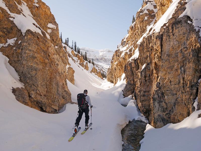 Entering the canyon.
