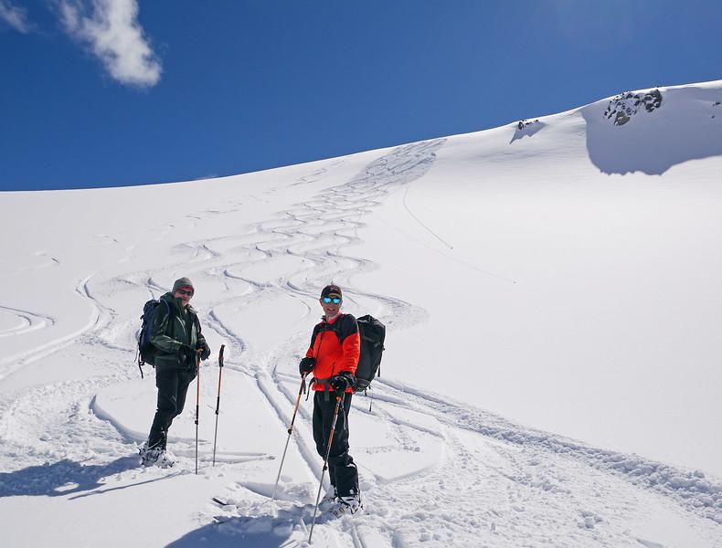 Ski partners Andrew and Bob.