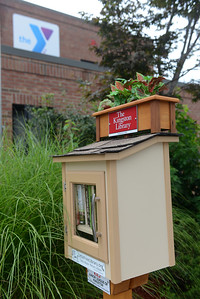 The Little Free Library at theYMCA on Broadway in Kingston.