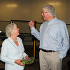 NASHOBA VALLEY VOICE/ANNE O'CONNOR<br /> Thousands of boxes of crunchy lettuce leave Little Leaf Farms in Devens every day. The company will add another 2.5 acres greenhouse within a year and double their growing space. U.S. Rep. Niki Tsongas, with a free sample, speaks with CEO Paul Sellew.