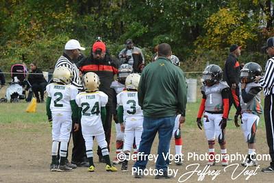 10-31-2015 Montgomery Village Sports Association Chiefs vs Ridge Road Titans, MIghty MIte Green, Photos by Jeffrey Vogt, MoCoDaily