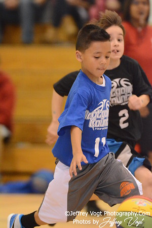 1-09-2016 Germantown Sports Association Rec Basketball  3rd Grade St. Clair Team, Photos by Jeffrey Vogt, MoCoDaily