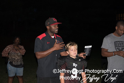 08-28-2017 North Potomac Braves with Above the Pads, Solomon Taylor at Quince Orchard High School Photos by Jeffrey Vogt, MoCoDaily