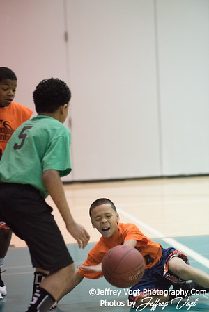 2/17/2018 5th Grade Up County Rec Basketball Team Bombers at Kingsview Middle School, Photos by Jeffrey Vogt, MoCoDaily