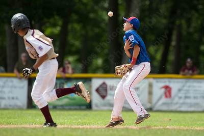 Saturday during the Little League District 5 Championship at Recreation Park in Southington  Jul. 15, 2017 | Justin Weekes / For the Record-Journal
