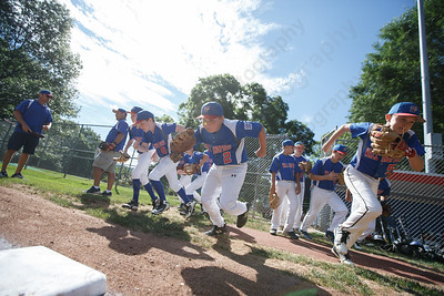 Wallingford takes the field to face Shelton Saturday during the sectional finals at Peter J Foley Stadium in Naugatuck July 21, 2018 | Justin Weekes / Special to the Record-Journal