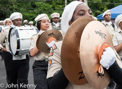 The Linden Lightbearers Band.   Little Neck-Douglaston Memorial Day Parade 5/29/17