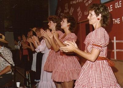Debbie Jensen,  Rachel Johnson, Leah Houghton, Wendy Bingham-Helling, Linda Chambers-Spaulding, Bonnie Chambers 1984