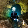 Perry BL bubbles cave  diving